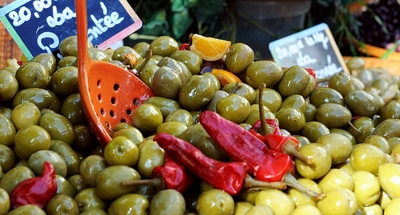Olive sul mercato in Camargue
