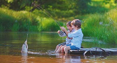 I bambini che pescano
