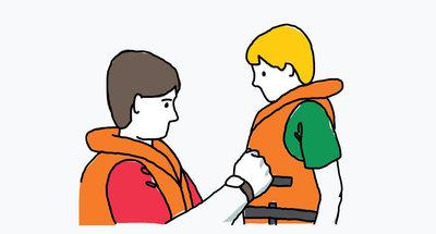 Indossare giubbotti di salvataggio