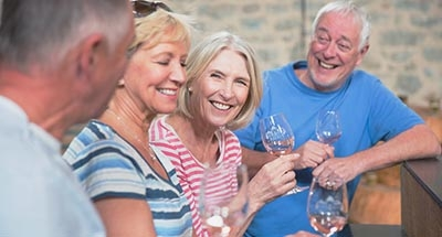 Degustazione di vini di gruppo