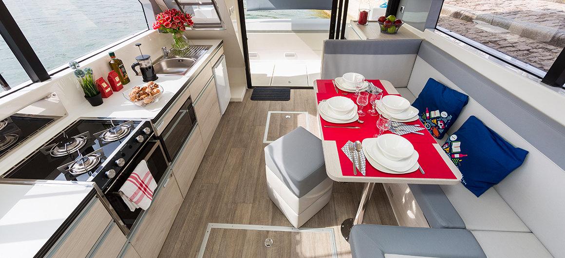 Salone e cucina della Horizon 1