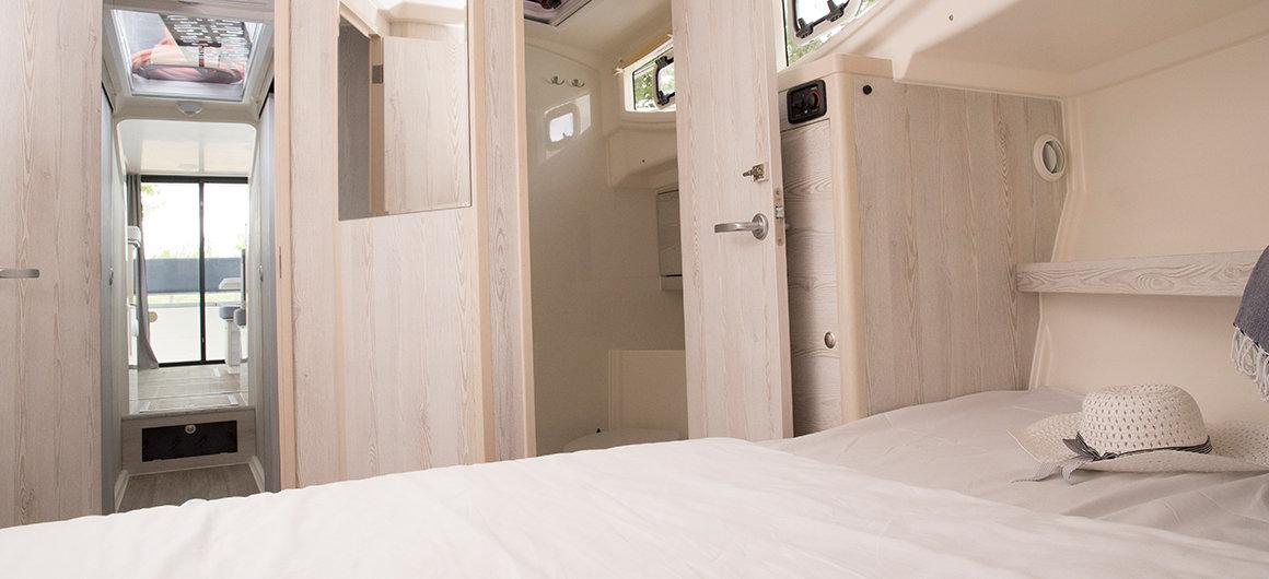 Cabina principale con bagno privato della Horizon 3