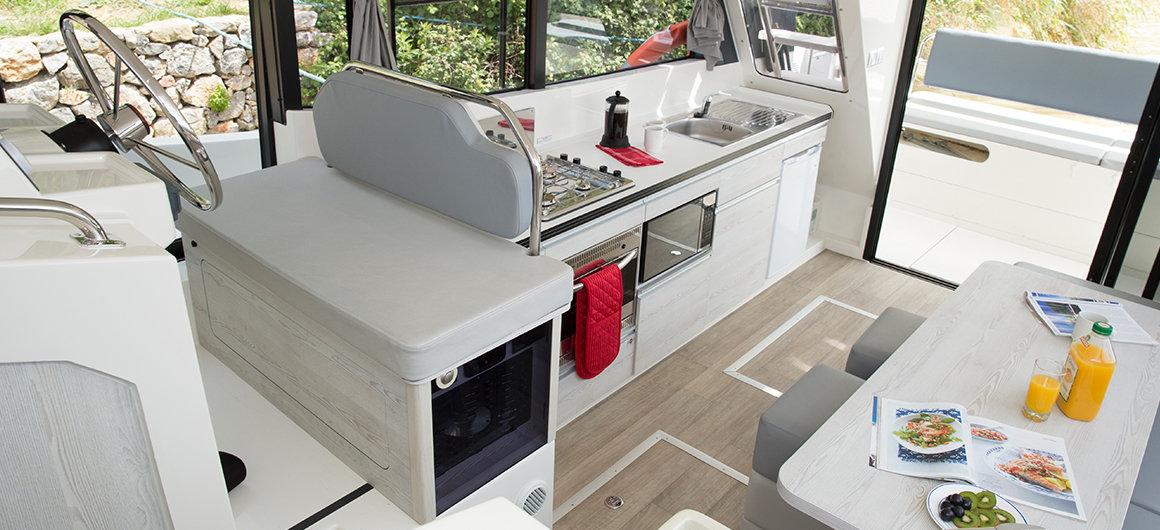 Salone e cucina della Horizon 3