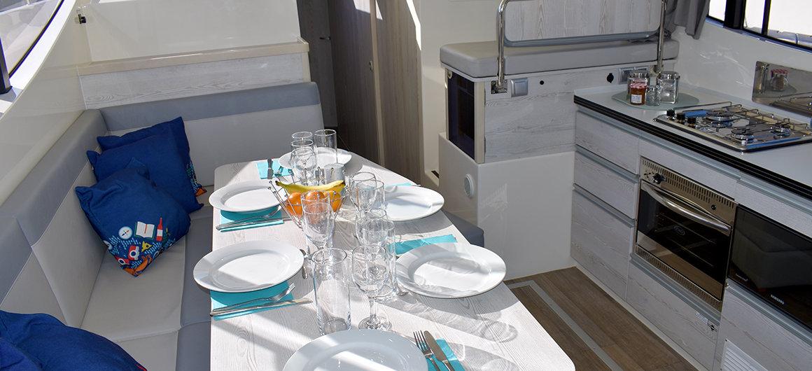 Salone e cucina della Horizon 4