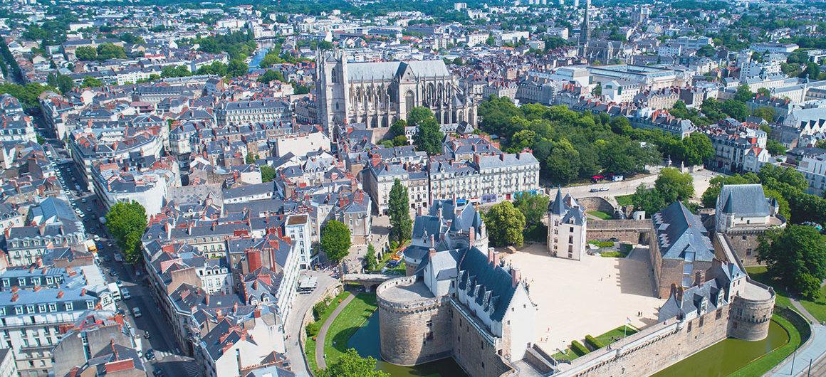 Veduta aerea di Nantes, Bretagna