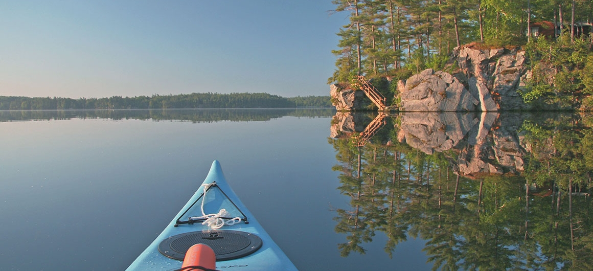 Canoa sul Big Rideau Lake, Canada