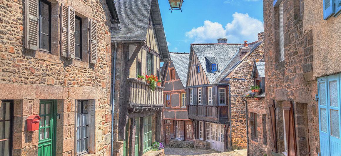 Strade di Dinan, Bretagna