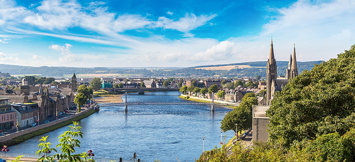 Veduta di Inverness, Scozia