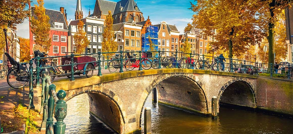 Ponte sopra il canale, Amsterdam, Olanda