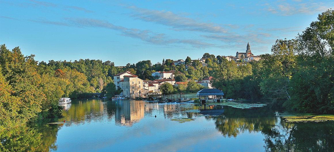 Panorama sul fiume Charente