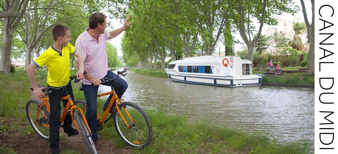 Escursioni in bicicletta lungo il Canal du Midi, Francia