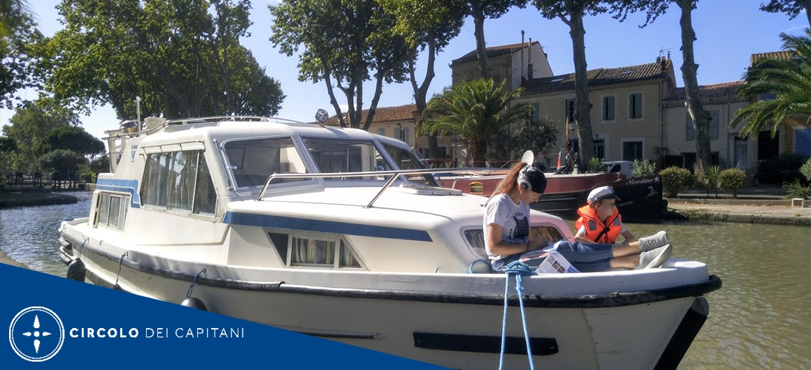 Capitano Alexey sul Canal du Midi