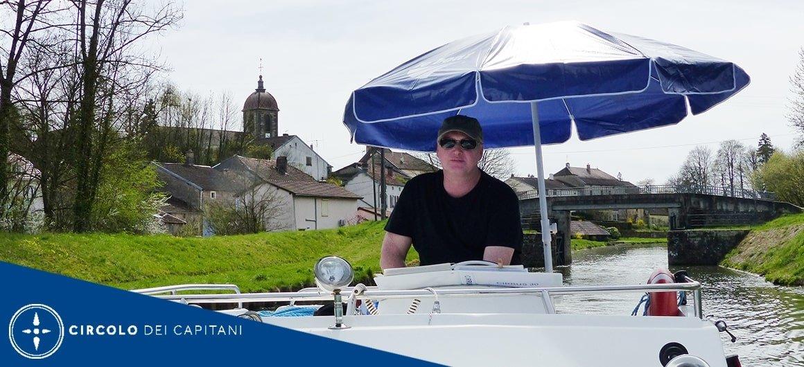 Capitano Erwin sul fiume Lot
