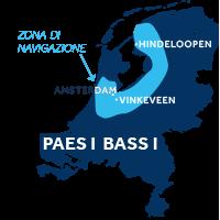 Mappa della zona di navigazione: Frisia e Olanda nei Paesi Bassi