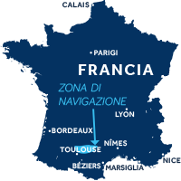 Mappa zona navigazione Francia