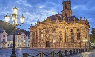 Chiesa protestante barocca di Ludwigskirche a Saarbrücken